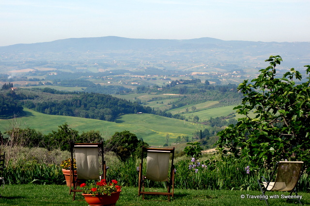View of Val di Pesa from La Novellina in Tuscany