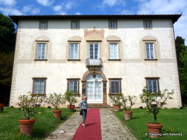 On the red carpet of Villa Buonvisi