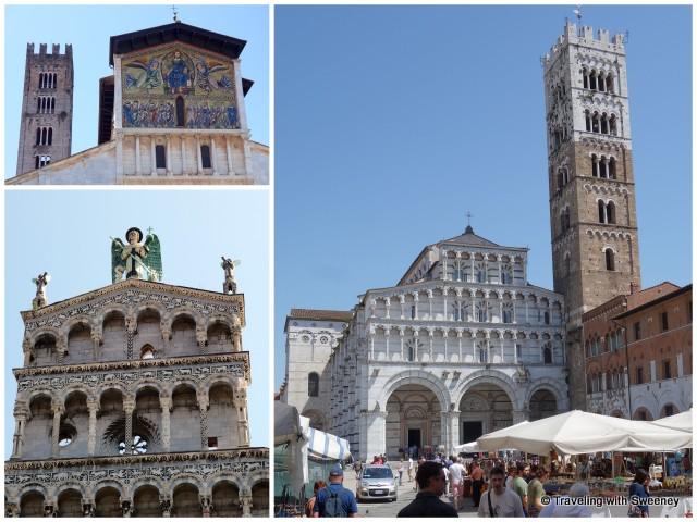 Clockwise rom top left: Basilica di San Frediano, Duomo di San Martino, San Michele in Foro