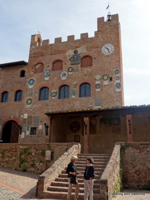 Egle and I in front of the Palazzo Pretorio