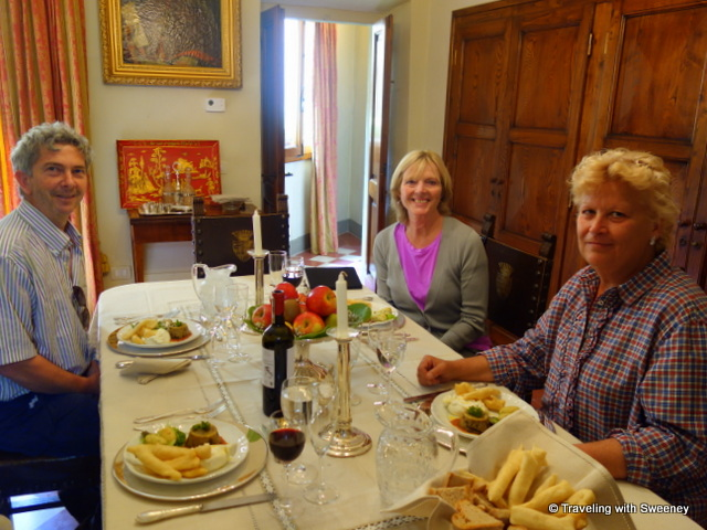 A memorable dining experience in Renaissance ambiance with Andrea and Claudia in their villa