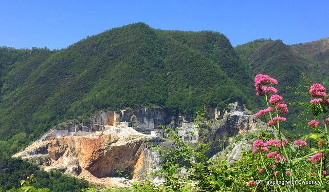 A marble quarry in the Apuan Alps near Pietrasanta