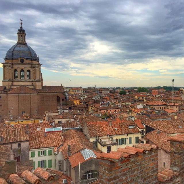 Mantova, Lombardy, view from Palazzo Castiglioni