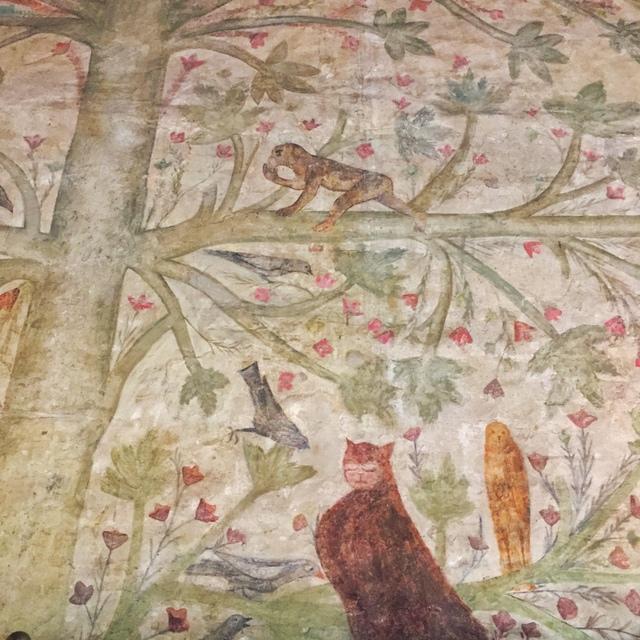 Palazzo Castiglioni Mantova, the frescoed wall in the tower