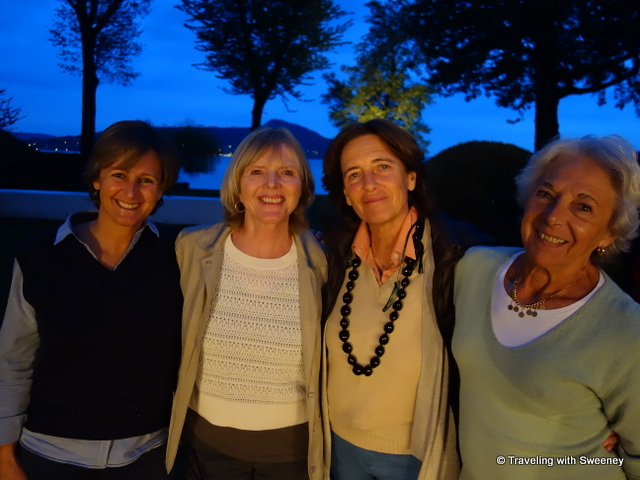 With Sara, Luisa, and Eva at Casa del Lago