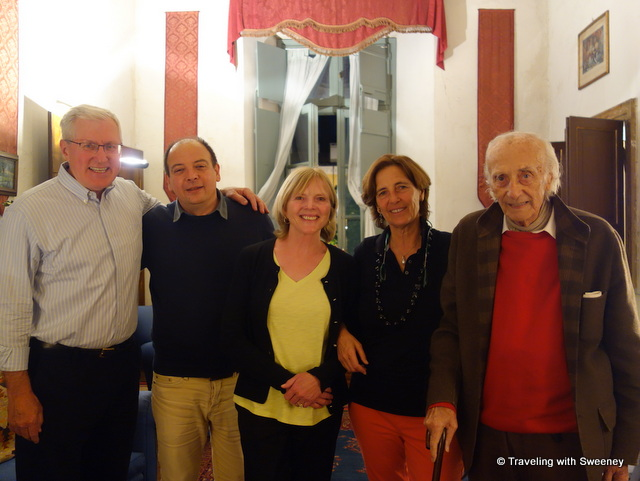 Mr. TWS and I with our Mantua hosts Guido, Luisa, and Baldesar Castiglioni