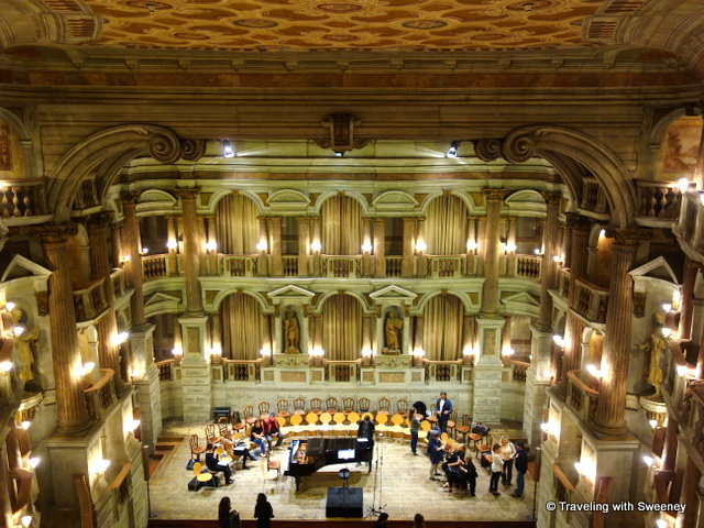 Preparing for a rehearsal at Teatro Bibiena