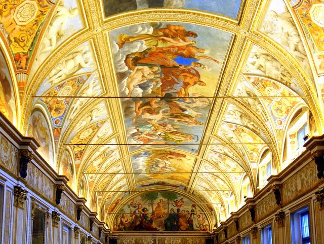 Stunning frescoes of the Sala degli Specchi in the Palazzo Ducale