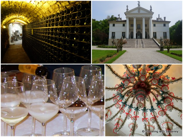Tunnels, Murano chandeliers, and Prosecco tasting at Villa Sandi