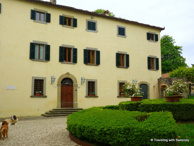 The main house of Villa La Collina